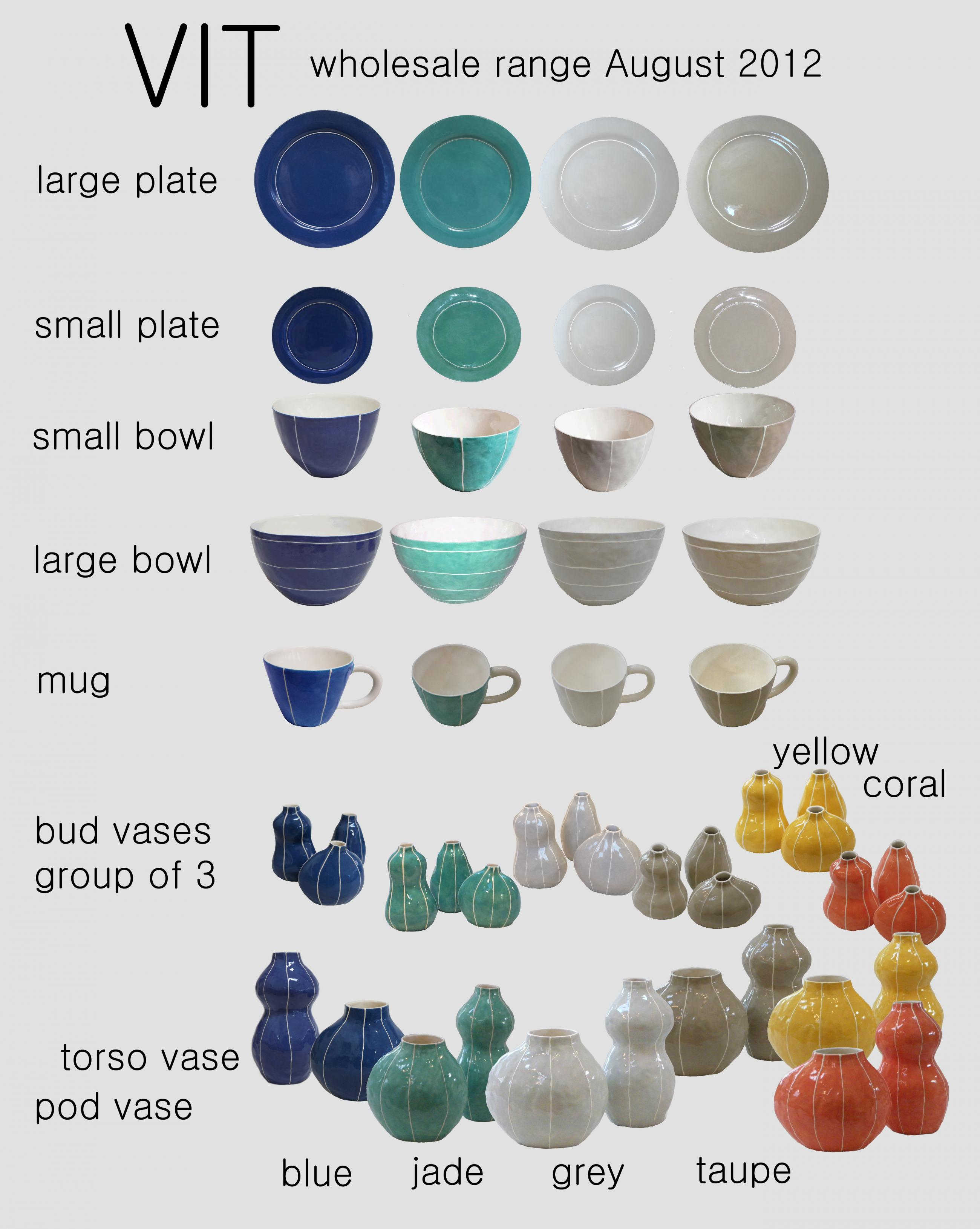 VIT ceramics, post card. wholesale range, August 2012