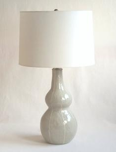 VIT ceramic lamp base, handmade, modern, pottery, table lamp, kri kri studio, Seattle